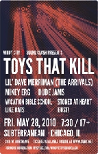 WINDY CITY SOUND CLASH II featuring Toys That Kill / Lil Dave of The Arrivals / Mikey Erg of The Ergs! / Vacation Bible School / Dude Jams! / Stoned At Heart / Like Bats / Bust!