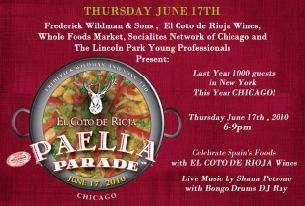 Chicago Paella Parade with Frederick Wildman Wines, El Coto de Rioja Wines