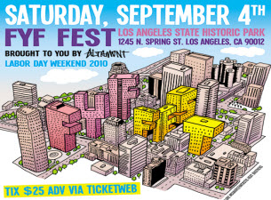 FYF FEST featuring with The Rapture, Panda Bear (Animal Collective), !!!, Sleep, Local Natives plus many more.