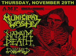 Municipal Waste with Napalm Death