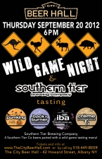 Wild Game Night featuring Southern Tier Brewing Co