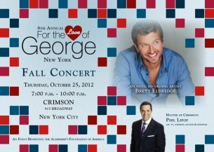 Eighth Annual For the Love of George Cocktail Party & Fall Concert featuring Live performance by Brett Eldredge