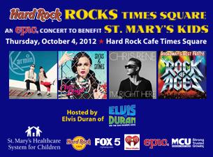Hard Rock Rocks Times Square for St. Marys Kid's featuring Karmin, Cher Lloyd & Chris Rene