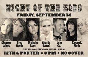 LOUNGE: Night of the Zods, Shannon LaBrie / Kree Woods / Michelle Rene / Charity Vance / John Cox / Eugene & Marie / Sara Beth Geoghegan