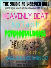 Heavenly Beat plus Splash / Psychobuildings / Beach Day / Young Boys / Sean Earl Beard (Plastic Flowers) DJ Set
