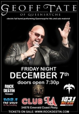 GEOFF TATE of QUEENSRYCHE : **electric performing Queensryche hits and solo material**
