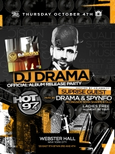 GIRLS NIGHT OUT featuring DJ Drama alongside DJ Spynfo