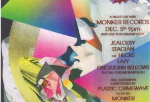 'A Night Out With Moniker Records' featuring The Hecks / Jealousy / Lazy / Stacian / ONO & John Bellows