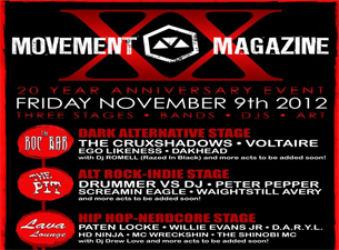 Movement 20 Year Anniversary featuring The Cruxshadows / Voltaire