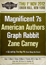 Communion NYC featuring Magnificent 7s / American Authors / Graph Rabbit / Zane Carney & DJ set by The Big P.A.