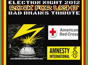 ROCK FOR LIGHT Hurricane Relief Benefit & Bad Brains Tribute Show featuring HR (of Bad Brains), Jesse Malin, Vernon Reid (Living Colour), Steve Earle, Felice Rosser (Faith), Jesse Leach (Killswitch Engage), Ralphie G (The Mob), Pegasus Warning Plus Many More & Special Surprise guests!