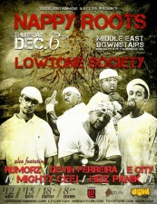 Nappy Roots , Lowtone Society, and more.