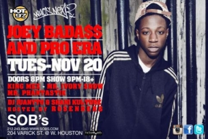 Joey Badass with Pro Era, Mr. Phantastik, King Mez, Mr. Ivory Snow HOT 97 WHOS NEXT LIVE hosted by Peter Rosenberg