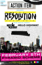 Action Item + Before You Exit + Hello Highway