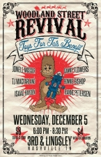Woodland Street Revival featuring Bonnie Bishop, Jeanne Petersen, Jefferson Crow, Adam Fluhler,, Brian Clark, Dave Colella, Travis Vance Special Guests: Danny Flowers, Issac Hayden,, TJ Marshal and more.