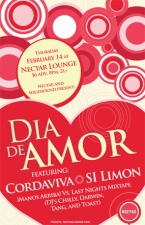 DIA DE AMOR featuring CORDAVIVA, Si Limon (featuring Eli Rosenblatt) and ¡MANOS ARRIBA! Vs. LAST NIGHTS MIXTAPE (DJ's Chilly, Darwin, Tang, and Toast)