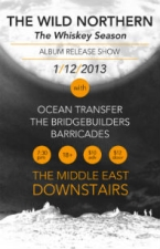 The Wild Northern (CD Release), Feat. Ocean*Transfer, The Bridgebuilders, Barricades