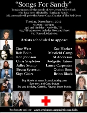 Songs For Sandy featuring Due West , Al Anderson, Nicole Johnson , Bridgette Tatum, and more...