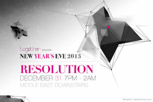 RESOLUTION New Year's Eve 2013