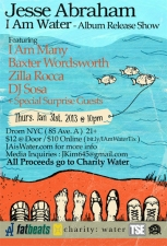 Jesse Abraham's I Am Water Album Release Show featuring Baxter Wordsworth / Zilla Rocca / I Am Many / & more