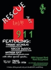 The Viper Room Presents: RESCUE ART 911 (charity event) featuring Thomas Nicholas Band , Rocco Deluca , Travis Clark, Mots Nouveaux, and Nathan Rey