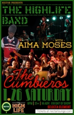 THE HIGHLIFE BAND featuring AIMA MOSES , with THE CUMBIEROS