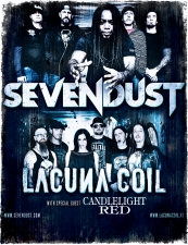 Sevendust / Lacuna Coil with Candlelight Red