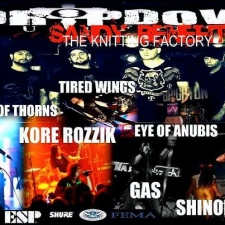 Dropdown Hurricane Sandy Relief Show with Shinobi Ninja / Kore Rozzik / Pool of Thorns / Gas / Tired Wing / Eye of Anubis