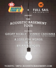 Acoustic Basement Tour with Geoff Rickly (of Thursday) & Vinnie Caruana (of The Movielife / I Am The Avalanche) / A Loss For Words / Koji / Brian Marquis