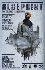 BLUEPRINT with TH3RDZ (JFK, Candidt and Xperience), Grynch, Jewels Hunter, Nathan Wolfe, The Sharp 5 (Live 5 piece Soul/Hip Hop band)