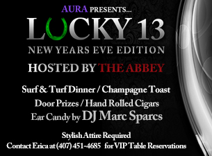 NEW YEARS EVE - LUCKY 13!
