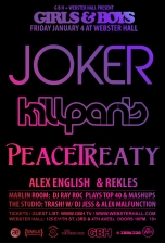 Girls & Boys with Joker + Kill Paris + Peacetreaty