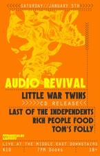 Audio Revival , Little War Twins , Last Of The Independents , and more.