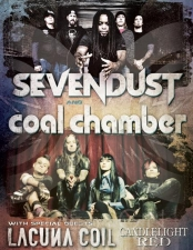 SEVENDUST-COAL CHAMBER with Lacuna Coil / Candlelight Red