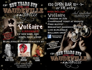 New Year's Eve Leather + Lace : Vaudeville In Amityville