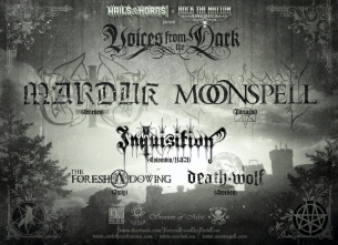 Marduk / Moonspell / Inquisition / The Foreshadowing / Death Wolf
