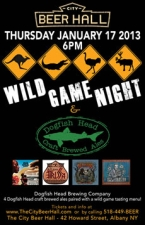 Wild Game Night with Dogfish Head Brewery