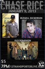 Chase Rice with Old Dominion and Russell Dickerson