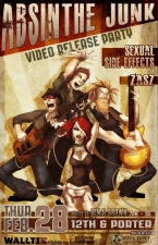 Absinthe Junk, Video Release Party featuring The Sexual Side Effects and Zasz