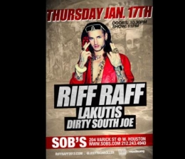 RIFF RAFF with LAKUTIS & DIRTY SOUTH JOE