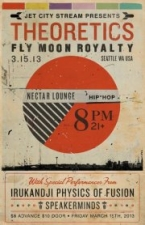 THEORETICS and FLY MOON ROYALTY with Irukandji Physics of Fusion and Speakerminds