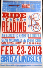 4th Annual Ride For Reading Acoustic Benefit Concert featuring Featuring Sean McConnell and Brent Cobb with special guest Logan Brill