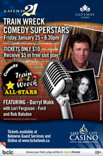 Trainwreck Comedy All-Stars featuring Darryl Makk With Lori Ferguson-Ford & Rob Balsdon