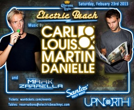ELECTRIC BEACH featuring Carl Louis & Martin Danielle