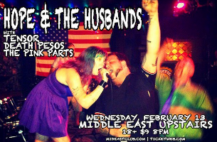 Hope & the Husbands with Tensor, Death Pesos, The Pink Parts