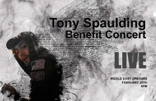 Tony Spaulding Benefit Concert featuring Amygdala , Behold The Believer , Pariah & more.