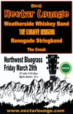 Weatherside Whiskey Band / The Giraffe Dodgers / Renegade Stringband / The Creak