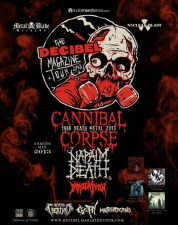 Cannibal Corpse with Napalm Death / Immolation / Cretin