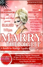 Marry the Night - A Benefit for Marriage Equality featuring Live Music, Dancing & a Drag Show! @ The Pyramid Scheme