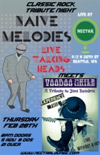 NAIVE MELODIES plays Talking Heads with VOODOO CHILE plays Jimi Hendrix
